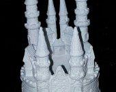 Wedding Cake Topper Cinderella Castle White Small