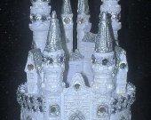 Wedding Cinderella Castle Cake Topper Small