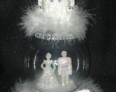 Wedding Cake Topper Cinderella Castle Prince & Princess