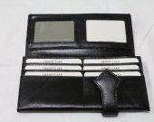 Diamond Print Ladies Leather Wallet