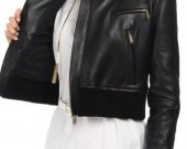Leather and Suede Jacket for Women