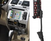 360 Degree Rotation Universal Car Vehicle Mount Bracket Phone Holder Stand Cigar Lighter With Usb Port Led Indicator^