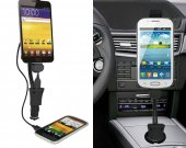 Universal Phone Holder Stand Bracket Car Vehicle Mount Cigar Lighter With Usb Port Led Indicator For Phone 4.3~6.1^