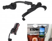 Universal Mobile Phone Holder Car Vehicle Mount Bracket Stand Holder Cigar Lighter With 2 Usb Port For 4.3^5.3 Phone