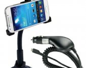 New Arrival Suction Cup Car Holder + Car Charger For Samsung Galaxy S4 Iv Mini / I9190^