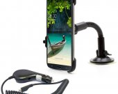 Car Windshield Suction Mount Holder With Charger For Samsung Galaxy Mega Gt^I9200