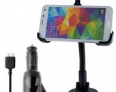 2014 Universal Windshield Car Mount Holder Bracket +Car Charger For Samsung Galaxy S5 I9600^