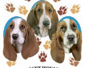Basset Hounds Puppy Love  T shirt.Size SM-6XL Many Colors
