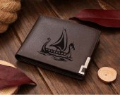 VIKING Ship Leather Wallet