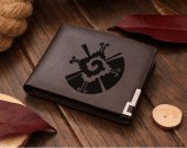 Maya Inca Hunab Ku Galactical Butterfly Yin Yang Leather Wallet