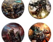 Warhammer Set Of 4 Wood Drink Coasters