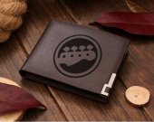 Rock Band Bass Guitar Leather Wallet