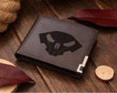 Starcraft Raynor Helmet Skull Leather Wallet