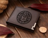 Legends Of Hidden Temple Olmec logo Leather Wallet