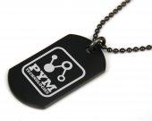Ant-Man Pym Technologies Logo Black Dog Tag Necklace