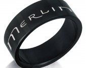 Merlin Black Stainless Steel Ring