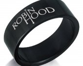 Robin Hood Black Stainless Steel Ring