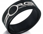 The Fifth Element Zorg Industries Black Stainless Steel Ring