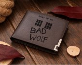 Doctor Who BAD WOLF Leather Wallet