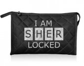 I Am Sherlocked Fabric Cosmetic Makeup Bag