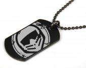 Motorstorm Black Dog Tag Necklace