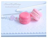 (LIGHT PINK) Miniature food Macaron Handmade Bookmark, Kawaii Cute Unique Bookmarks, Fake Food, Reader Her gift gifts