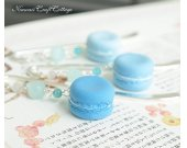 (MEDIUM BLUE) Miniature food Macaron Handmade Bookmark, Kawaii Cute Unique Bookmarks, Fake Food, Reader Her gift gifts