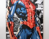 Handmade Spider-Man wall hanging, Spider-Man wood wall art