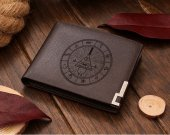 Gravity Falls Bill Cipher Wheel Leather Wallet