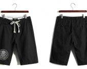 Cthulhu Casual Cotton Black Shorts