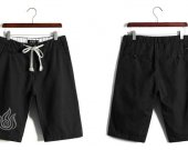 Avatar The Last Airbender Fire Nation Casual Cotton Black Shorts