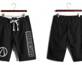 Borderlands Casual Cotton Black Shorts