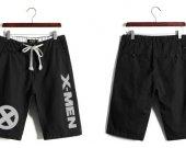 X-MEN Casual Cotton Black Shorts