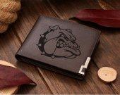 Bulldog Head Leather Wallet