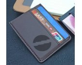 Quicksilver PU Leather Card Holder Magnetic Money Clip