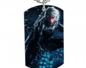 Metal Gear Rising Raiden Dog Tag Pendant Necklace