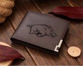 Arkansas Razorback Leather Wallet