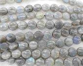 wholesale  Genuine Labradorite gemstone 8 10 12 14mm full strand round disc square box smooth jewelry beads