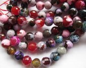 wholesale 5strands 4 6 8 10 12 14mm Agate gemstone  round ball sapphire blue purple brown yellow rose red black brown mixed beads