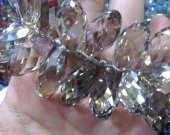 high quality 20mm 30mm Crystal like Swarovski drop  cube Faceted AB mystic topaz smoky  loose bead beads