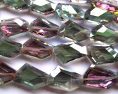 high quality 2strands 18-25mm Crystal like Swarovski  freeform nuggets  Facete rainbow jewelry beads