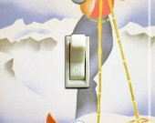 NORGE Hjemland (Norway) Vintage Ski Poster Switch Plate (single)