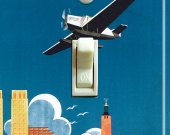 STOCKHOLM Vintage Travel Poster Switch Plate (single)