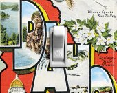 IDAHO Vintage Travel Poster Switch Plate (single)