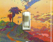 CALIFORNIA Landscape Vintage Travel Poster Switch Plate (single)