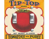 Tip Top TOMATOES Vintage Crate Label Switch Plate (double)