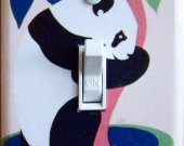 PANDA Zoo vintage poster Switch Plate (single)