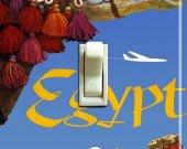 EGYPT CAMEL Vintage Travel Poster Switch Plate (single)