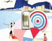 RIO BRAZIL Vintage Braniff Travel Poster Switch Plate (4 designs)