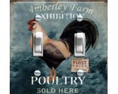 Vintage Rooster (Poultry) Switch Plate (Double)